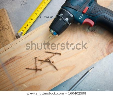 Electrical tools on the floor Diy tools concept Stock photo © galitskaya