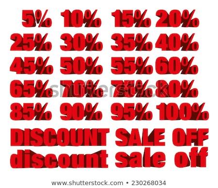 Pour cent blanche isolé 3d illustration argent Shopping Photo stock © ISerg