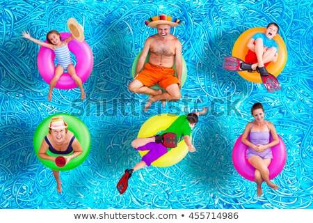 Család csőrendszer anya apa gyerekek cső Stock fotó © robuart