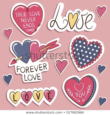 ベクトル ロマンチックな 愛 パッチ いたずら書き スタイル ストックフォト © barsrsind
