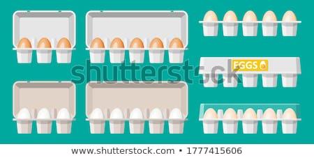 新鮮な ブラウン 卵 紙 カートン 1 ストックフォト © Digifoodstock