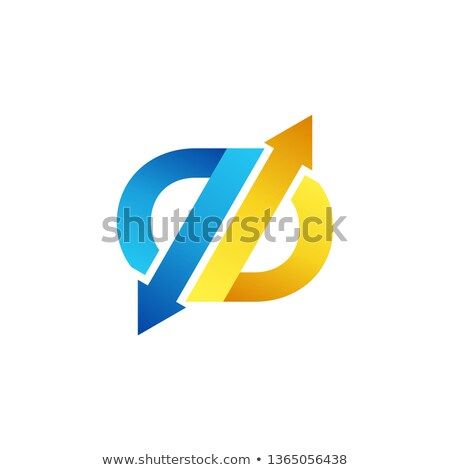 arrow exchange letter b logo symbol icon, arrows letter q abstract business logo vector design Stock photo © gothappy