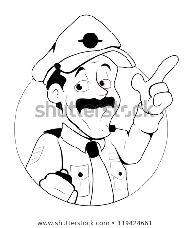 Retro cartoon policeman Stock photo © kariiika