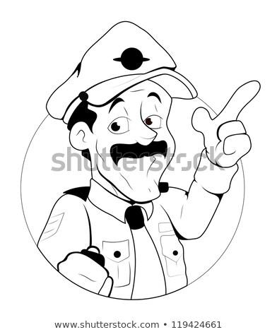 полицейский · работу · прав · службе · человек · профессиональных - Сток-фото © kariiika