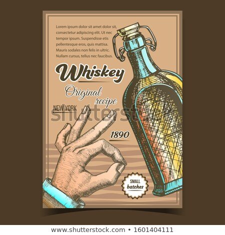 Whiskey Original Recipe Advertising Poster Vector Stock photo © pikepicture