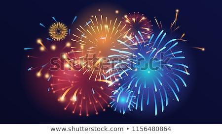 Fireworks On Background Template Foto d'archivio © curiosity