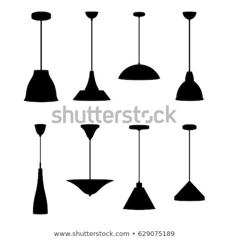 Colección diferente lámparas aislado blanco diseno Foto stock © DeCe