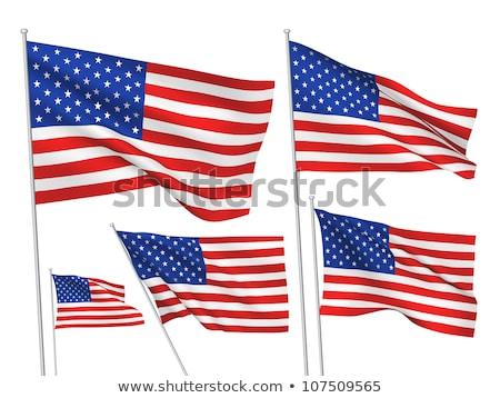Toplama bayraklar Amerika Birleşik Devletleri Amerika örnek Stok fotoğraf © designer_things