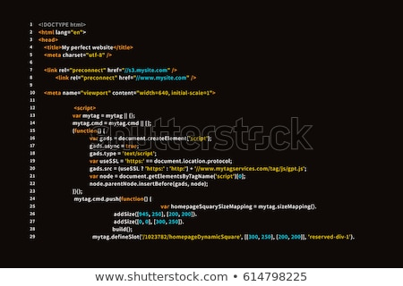 Ordinateur écran simple site html code Photo stock © evgeny89