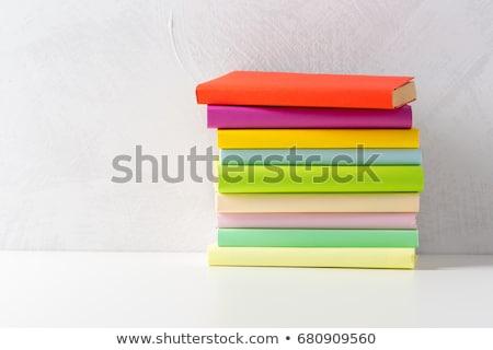 Néhány különböző tankönyvek izolált fehér könyvek Stock fotó © evgeny89