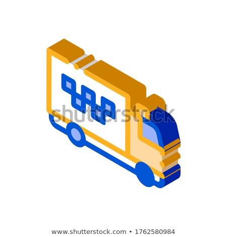 Online chat taksówką wycena umowy izometryczny Zdjęcia stock © pikepicture