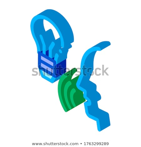Lightbulb Voice Control isometric icon vector illustration Stock photo © pikepicture