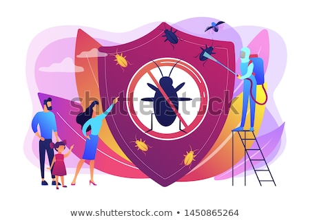 Home pest insects control abstract concept vector illustration. Stock photo © RAStudio