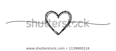 abstract black hand with a heart stock photo © dvarg