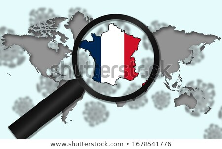 Stock photo: Magnifying Glass - France