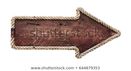 Bois flèche bois maisons utilisé signe Photo stock © farres