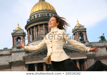Girl against the Isaakievsky cathedral Stock photo © Paha_L