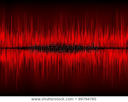 Red waveform vector background. EPS 8 Stock photo © beholdereye