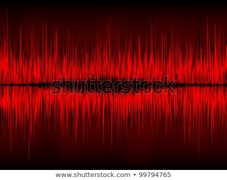 Piros hullámfoma vektor eps akta absztrakt Stock fotó © beholdereye