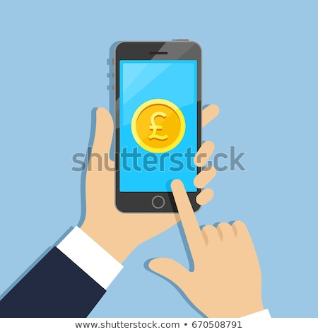 telefon · pound · hareketli · ödeme · para · simge - stok fotoğraf © fenton