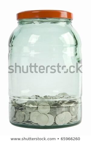 ezüst · dollár · szimbólumok · kék · üzlet · pénzügy - stock fotó © creisinger