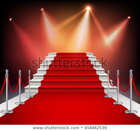 image on the staircase with red carpet illuminated stock photo © dacasdo