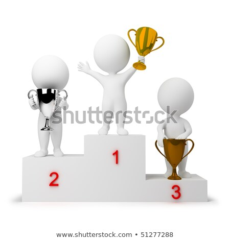 3d small people   rewarding of winners stock photo © anatolym
