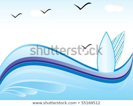abstract vector summer holiday2 stock photo © pathakdesigner