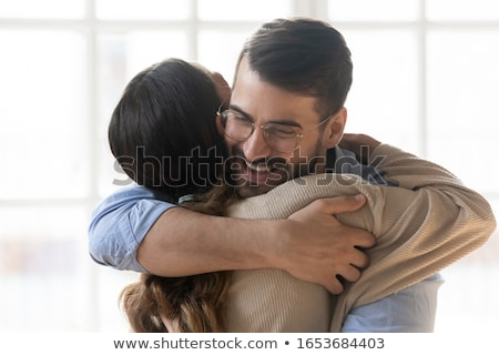 closeup of romantic couples seeing each other Stock photo © vichie81
