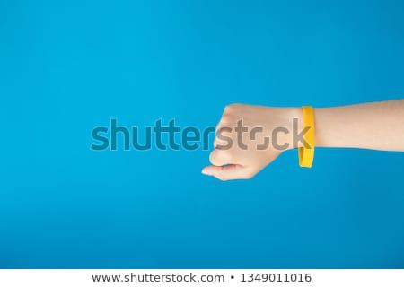 Femminile bracciale bianco moda sfondo pietra Foto d'archivio © cookelma