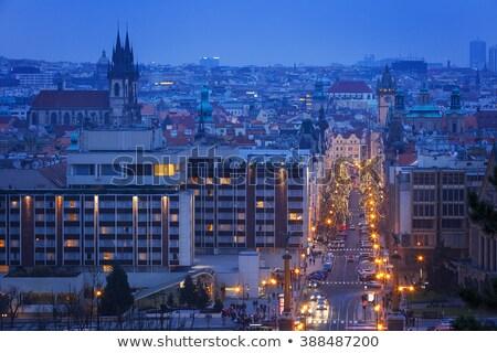 Parizska Street at Christmas time, Prague, Czech Republic Stock photo © phbcz