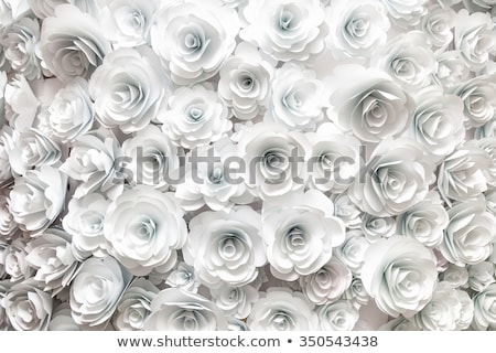 Valentine background with floral ornament and 3d love Stock photo © Elmiko