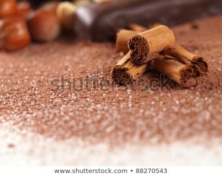 シナモン ブラウンシュガー コーヒー 穀類 孤立した 白 ストックフォト © zhekos