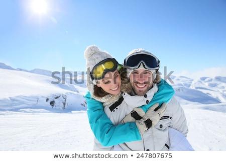 Kadın kız adam çift kar Stok fotoğraf © photography33