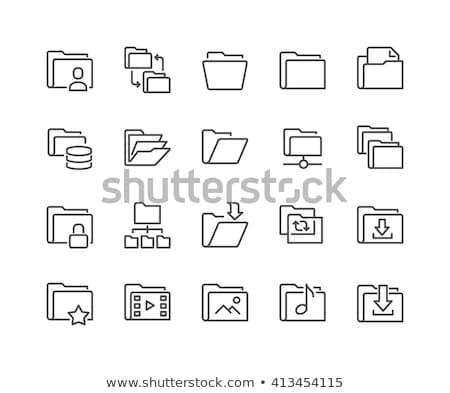 Stock fotó: Feltöltés · mappa · ikon · számítógép · háttér · zöld