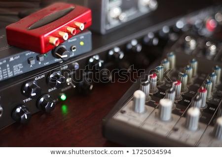 Vettore realistico interfaccia bianco musica chitarra Foto d'archivio © kovacevic