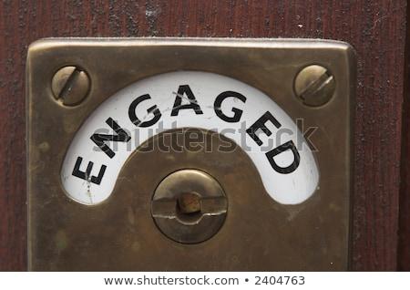 Comprometido trancar ilustração banheiro porta posição Foto stock © 72soul