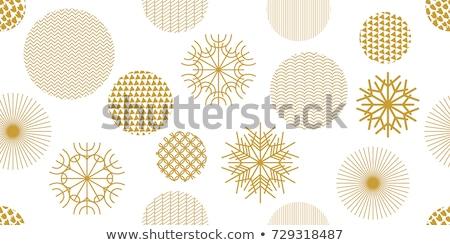 Christmas golden pattern Stock photo © OlgaDrozd