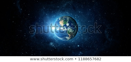 Stock photo: planet, space, rays of light
