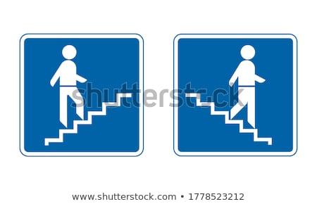 Most schody metal pieszy czarno białe tekstury Zdjęcia stock © sirylok