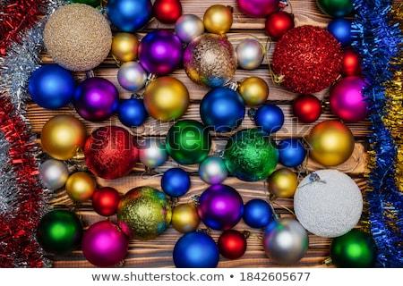 Stock fotó: Karácsony · szín · golyók · fehér · absztrakt · természet