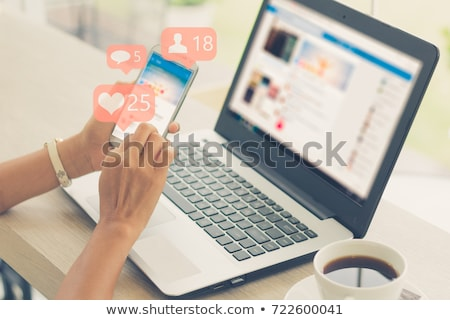 Stock photo: Social media girl
