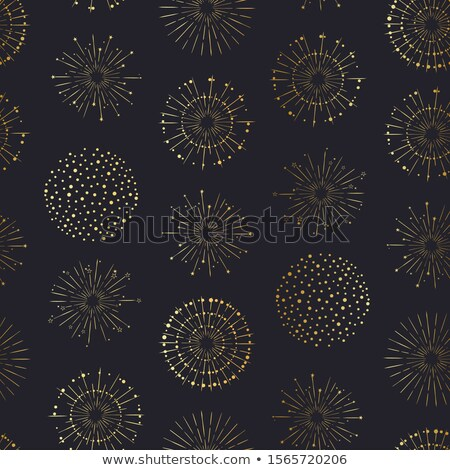 Foto stock: Holiday Fireworks Seamless Pattern
