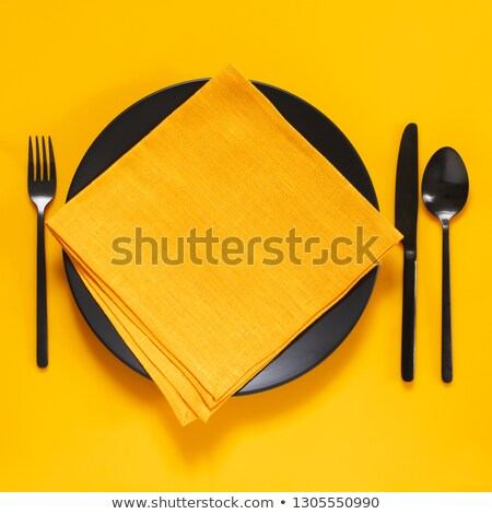 Simplement photos plaque tasse couteau Photo stock © jirisolecito