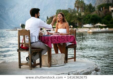 genieten · strand · romantische · strandzand · zomer - stockfoto © chrascina