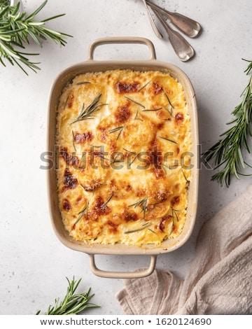 patate · tavola · colazione · forcella · cottura · pranzo - foto d'archivio © m-studio