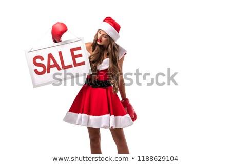 Merry girl in boxing-gloves stock photo © vlad_star
