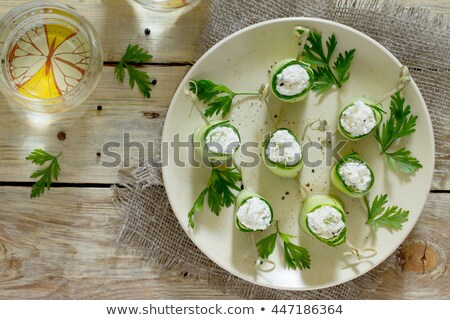stuffed cucumber with cream and pepper Stock photo © M-studio
