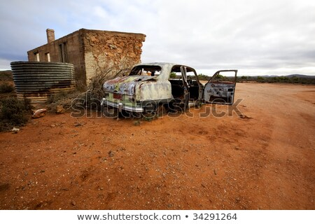 Australian outback Tank on a Hill Stock photo © sherjaca