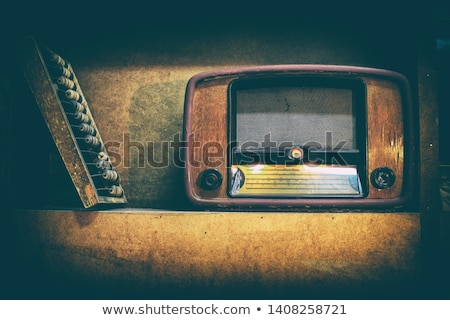 Ouderwets retro radio plank home technologie Stockfoto © vetdoctor